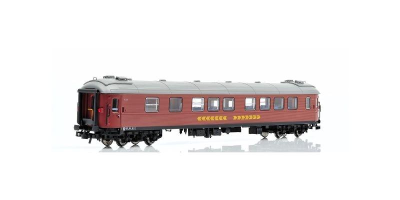 Topline Personenwagen B12 4972 2.Klasse der SJ,Inter City,H0