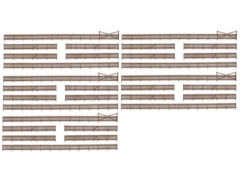 34 Teile 21,39€//m Faller 272409 Spur N Vorgartenzaun 280 mm lang Bausatz