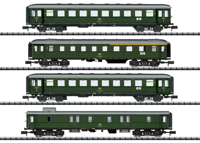 Personenwagen-Set Nahverkehr der DB, Minitrix Spur N, MHI