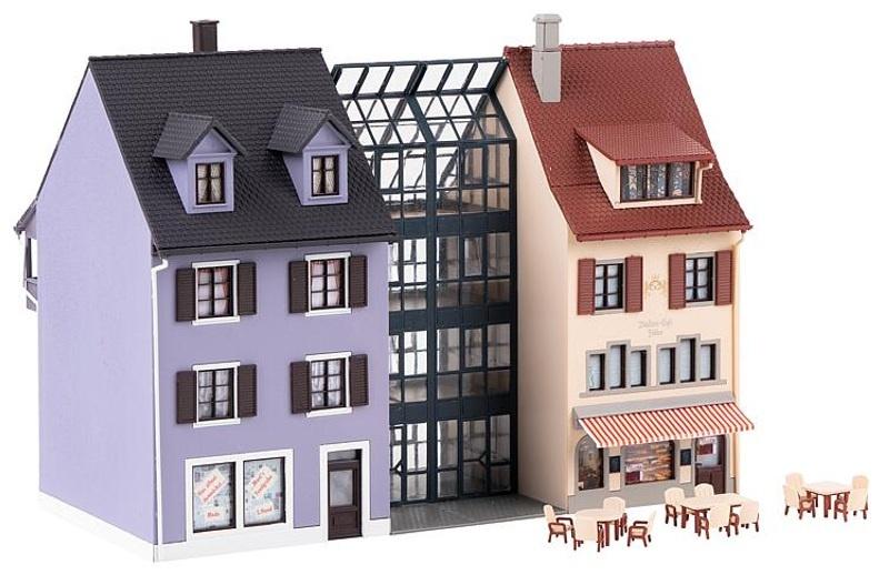 Kleinstadthäuserzeile Bausatz, Spur H0