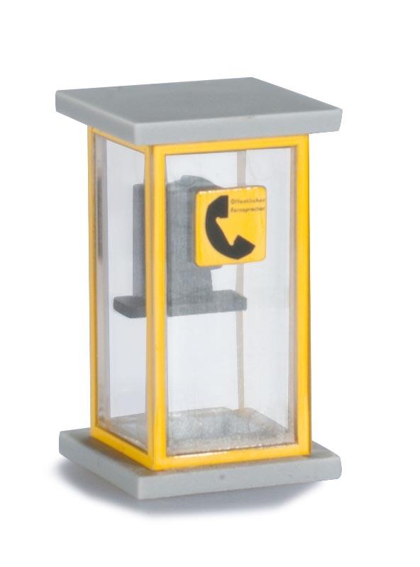 Zubehör Bausatz Telefonzelle (1960), 2 Stück, 1:87 / H0