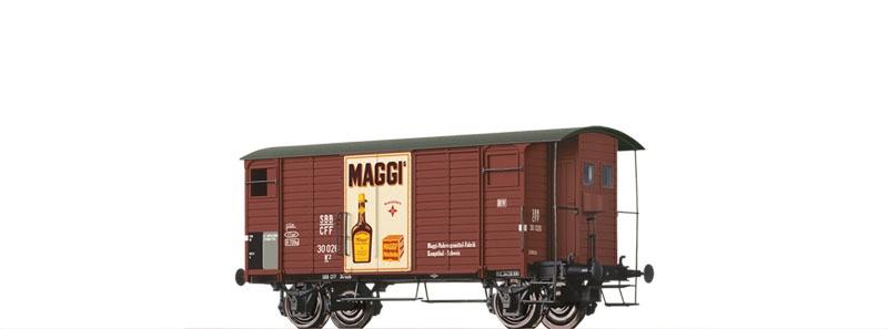 Gedeckter Güterwagen K2 Maggi der SBB, DC, Spur H0