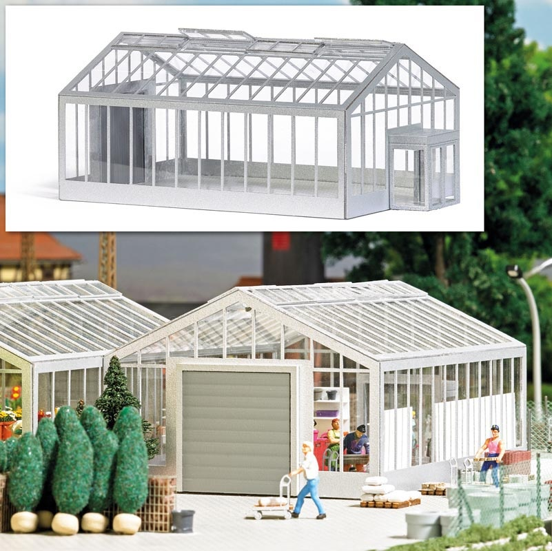 Gewächshaus / Gartencenter Bausatz, Spur H0