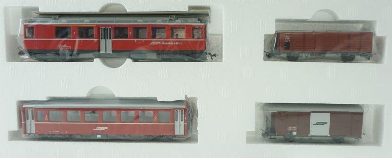 Zugpackung RhB Berninabahn mit Gleisoval digital, Spur H0m