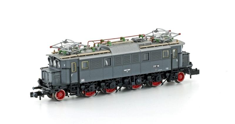 E-Lok E17 10 der DRG, Epoche II, grau/blau, DC, Spur N
