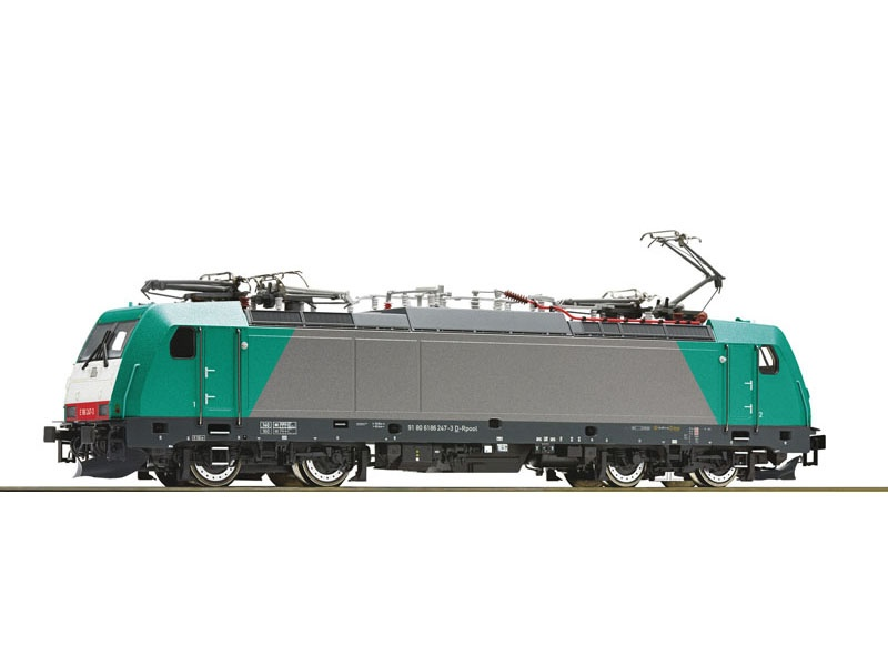 Elektrolokomotive 186 247-3, Railpool, DC, Spur H0