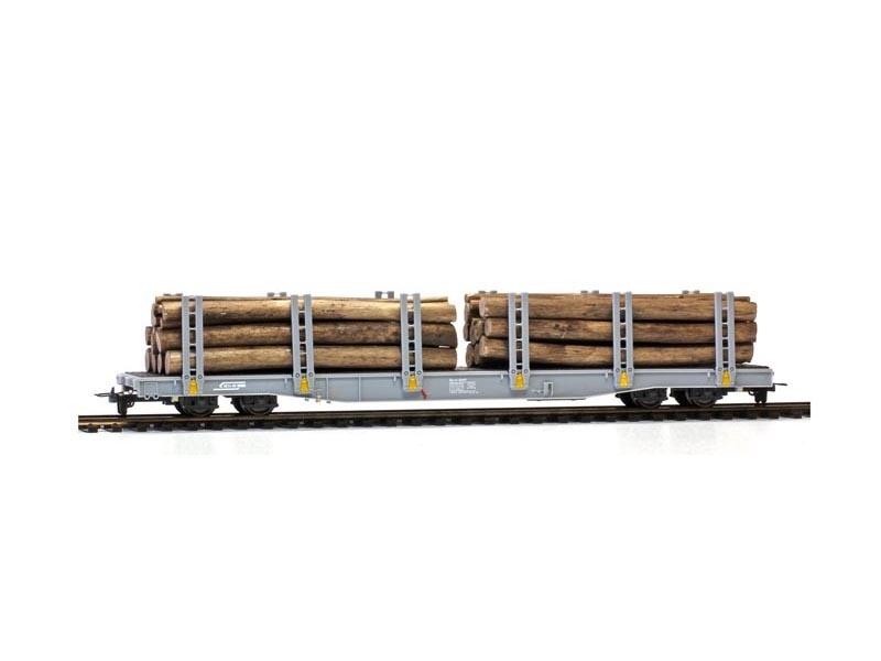 Rungenwagen mit Holzladung Sp-w 8357 der RhB, Spur H0m