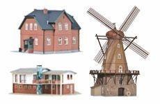 Gebäude und Ausschmückungen