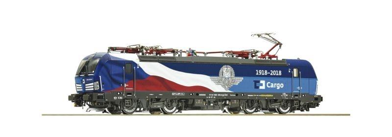 Elektrolokomotive 383 009-8 der CD Cargo, Epoche VI, Spur H0