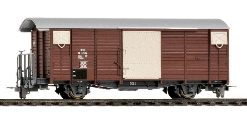 RhB Gb 5089 gedeckter Güterwagen 70er-Jahre oxidrot Spur H0m