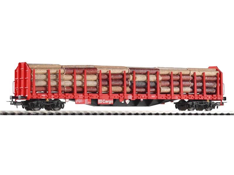 Stammholztransportwagen Roos-t642 mit Holzladung, Ep. V, H0