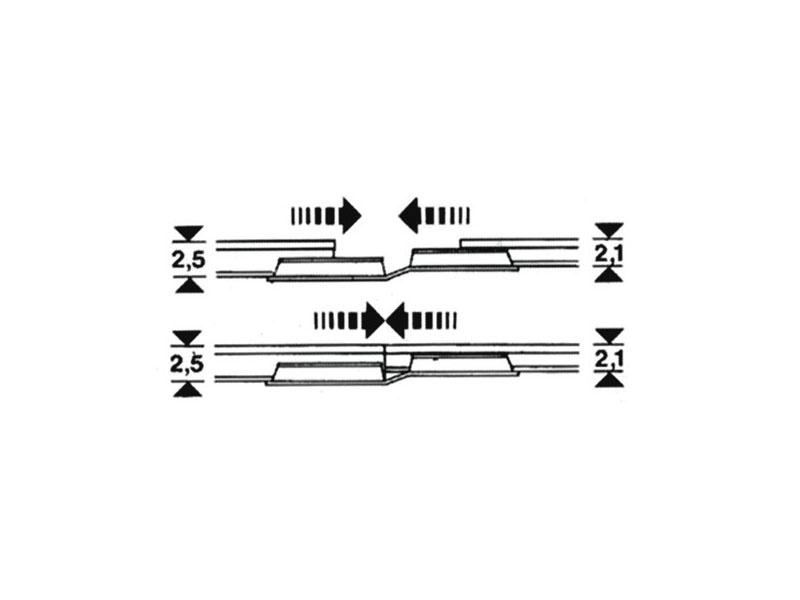 Übergangs-Schienenverbinder Profi-Gleis H0