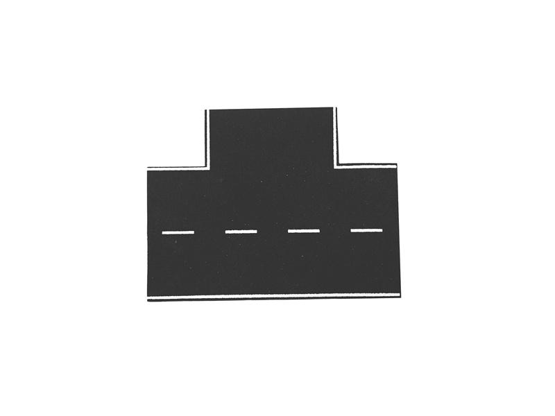 Straßenplatte Asphalt, 90°-Einmündung, Spur H0
