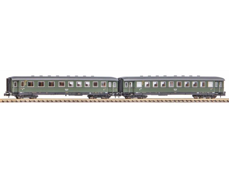 2er Set Schürzeneilzugwagen 2./3. Kl. und 3. Kl. DRB, Spur N
