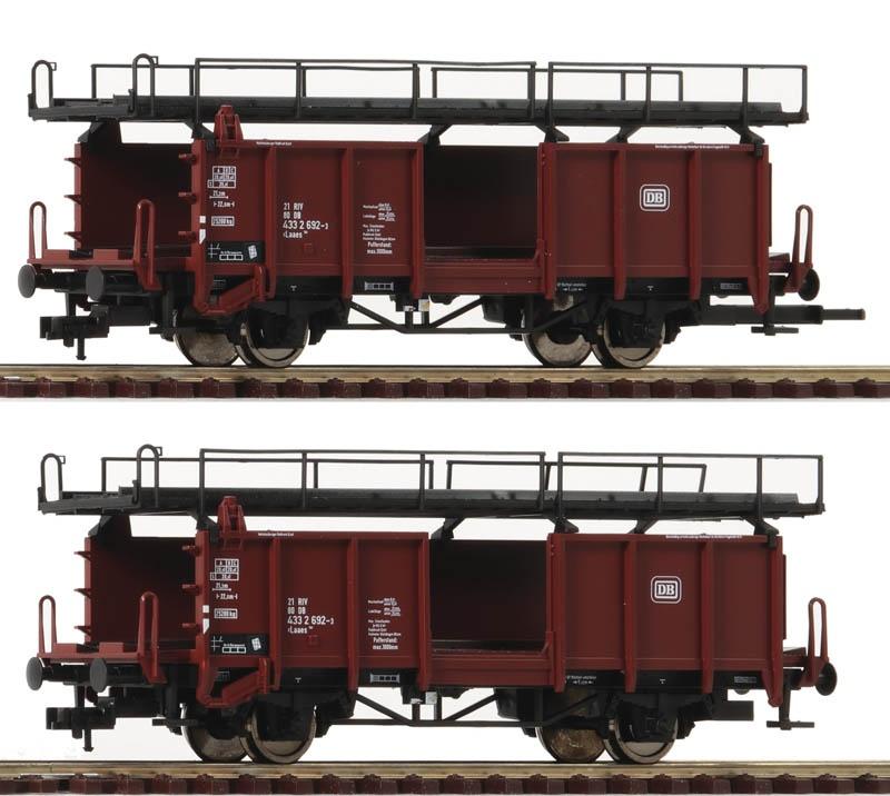2-tlg. Set: Autotransportwagen der DB, DC, H0