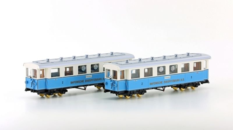 Zugspitzbahn 2-tlg. Set Personenwagen, Spur H0e