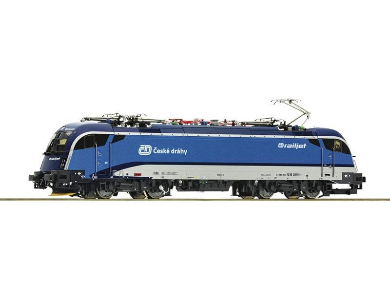 E-Lok Rh 1216 der CD Railjet, DC, Spur H0
