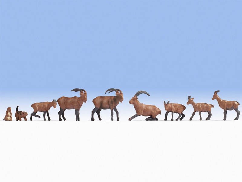 Alpentiere Figuren Spur H0