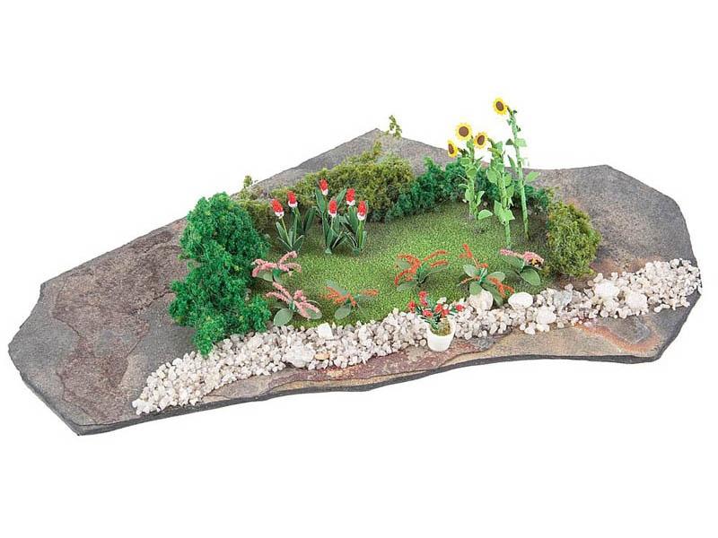 Do-it-yourself Mini-Diorama Garten H0