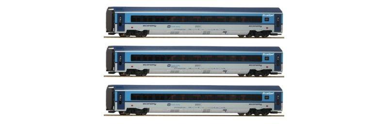 Personenwagen-Set Railjet der CD, 3-teilig, Epoche VI, H0