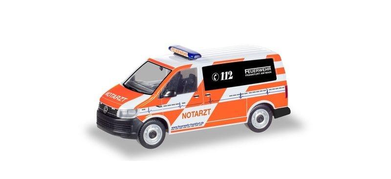 VW T6 Notarzt Feuerwehr Frankfurt/Main 1:87 / H0