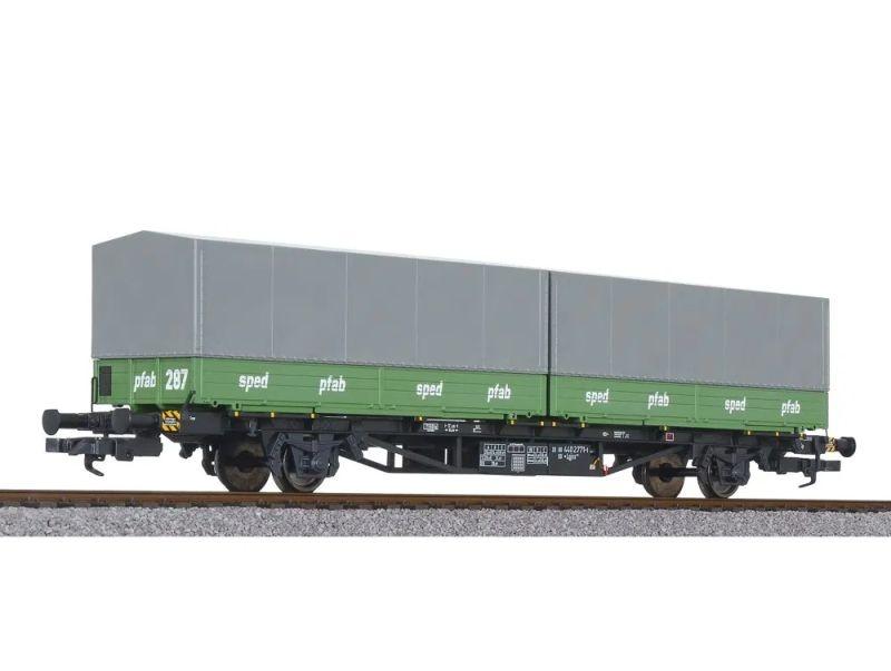 Containertragwagen Lgjss 571, 2 Wechselpritschen, DB, DC, H0