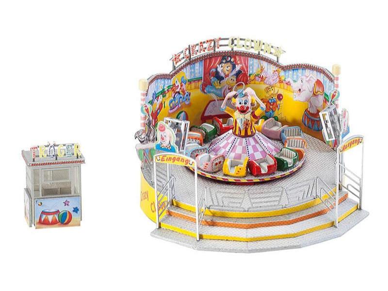 Kirmes Fahrgeschäft Crazy Clown Bausatz H0