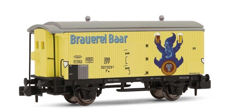 2-achsiger Kühlwagen Baar Bier der SBB, Ep. III, Spur N