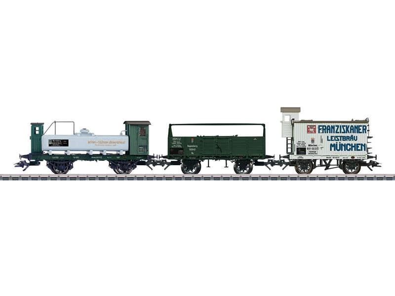 Güterwagen-Set mit 3 Wagen K.Bay.Sts.B H0