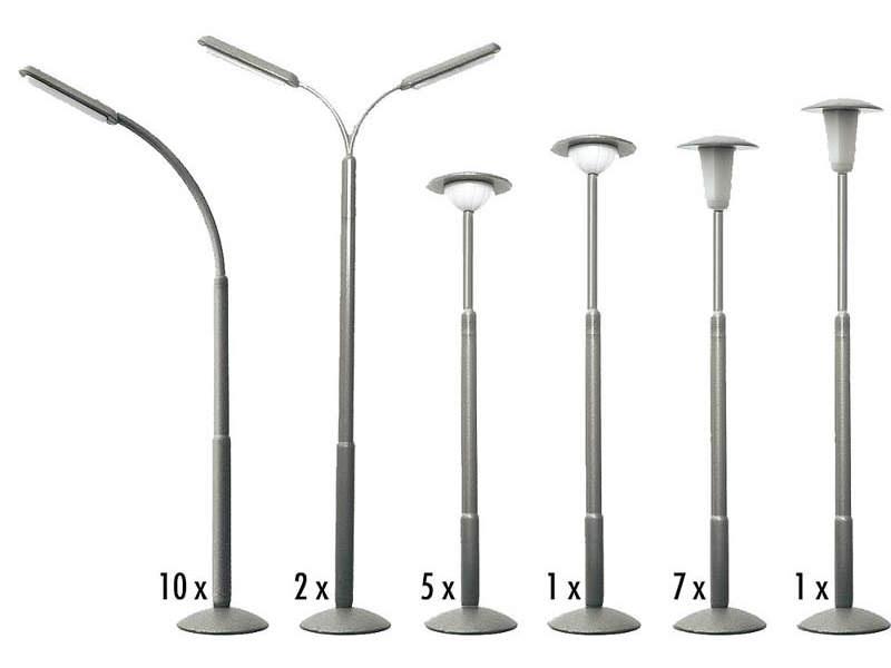 Straßenlampen-Set (nicht beleuchtbar) H0
