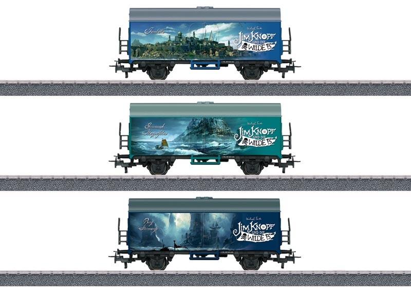 Güterwagen-Set Verschiedene Länder Jim Knopf, AC, Spur H0