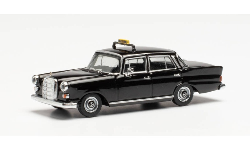 Mercedes-Benz 200 Heckflosse Taxi, schwarz, 1:87 / H0