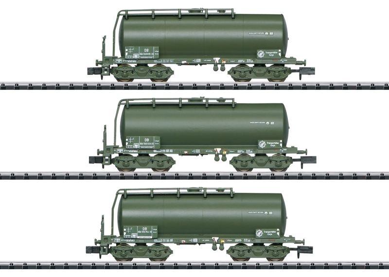 Kesselwagen-Set der USTC, DB, Minitrix Spur N
