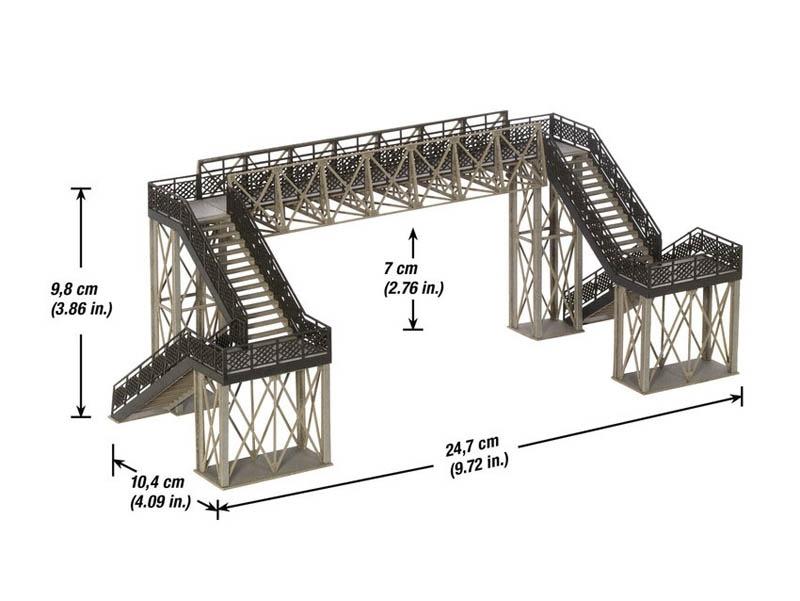 Fußgängerübergang variabel Grundbausatz Spur H0
