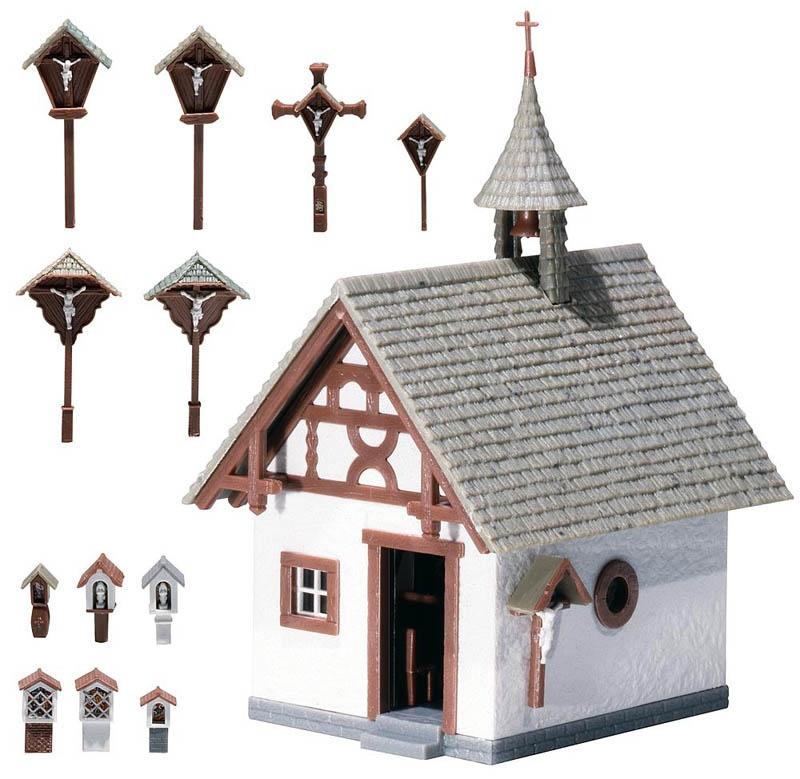 Kapelle mit Wegkreuzen Bausatz H0