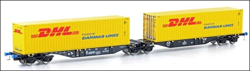 Containertragwagen Sggmrss 90 der PKP Cargo, DC, Spur H0