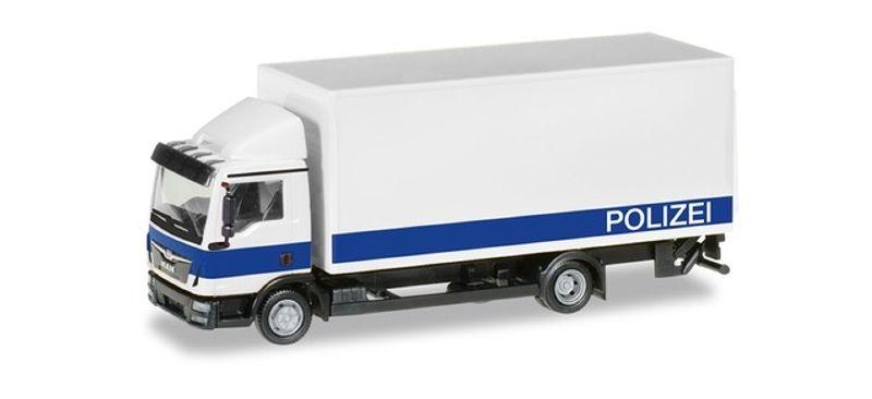 MAN TGL Koffer-LKW mit Ladebordwand Polizei Brandenburg,H0