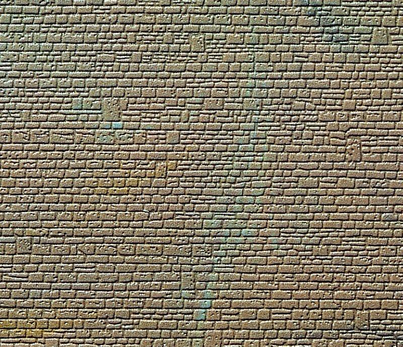 Mauerplatte unregelmäßig, mit Abdecksteinen, L10xB15cm, N/Z