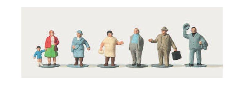 Korpulente Passanten (Einzeln) Figuren 1:160 / Spur N