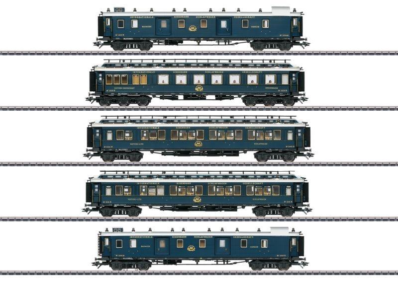 Schnellzugwagen-Set 1 Simplon-Orient-Express, mfx, DCC, H0