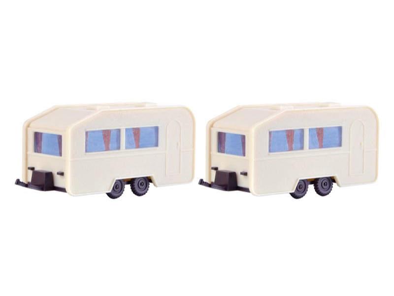 Wohnwagen, 2 Stück, Spur H0