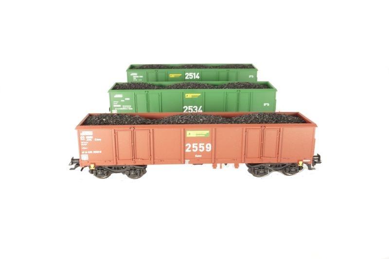 3er Set Sondermodell Offener Güterwagen Eaos der DE, AC, H0
