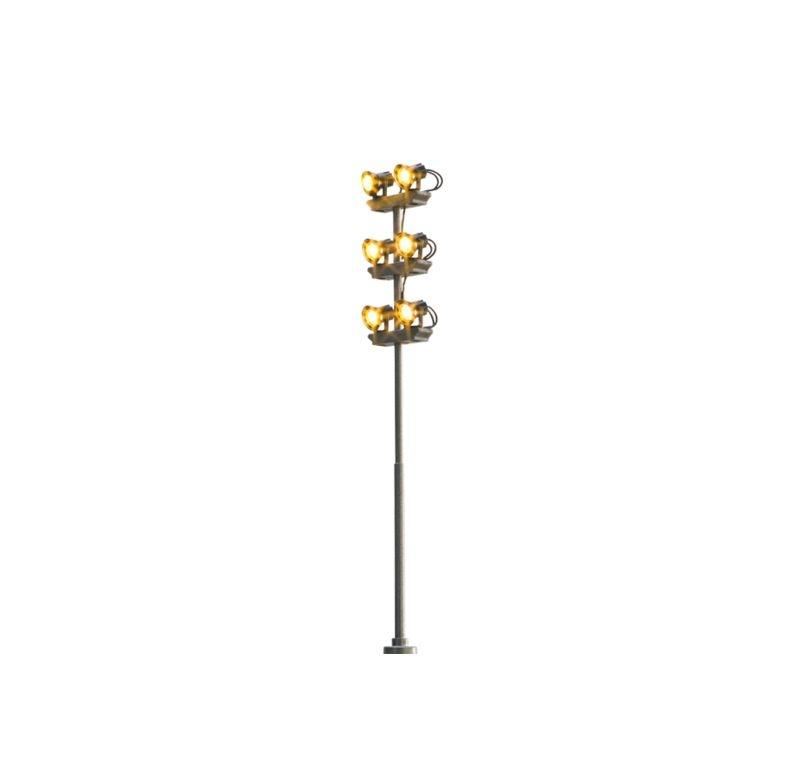 LED-Flutlicht 6-fach, mit Stecksockel, Spur H0