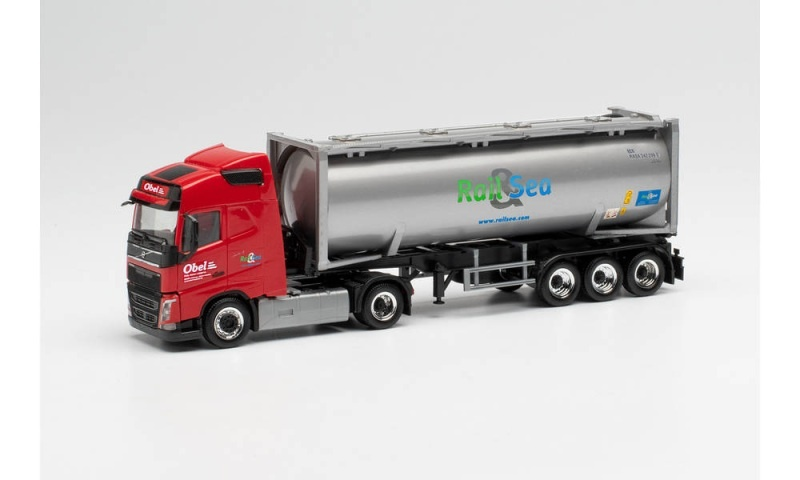 Volvo FH Gl. 30 ft. Drucksilocontainer-Sattelzug Obel, H0