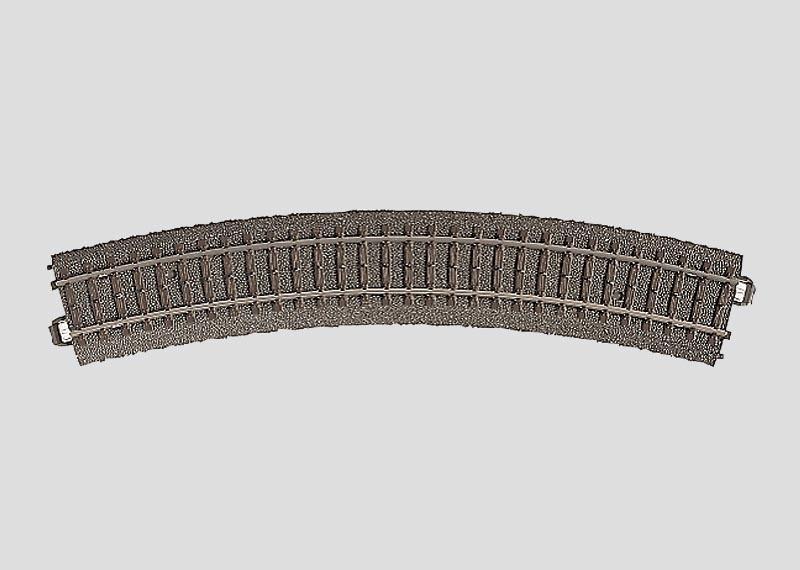 Gebogenes Gleis Radius 2=437,5 mm 30° Spur H0 C-Gleis