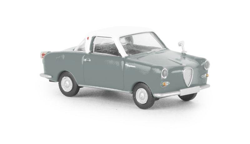Goggomobil Coupe weiss, grau, TD, 1:87 / Spur H0