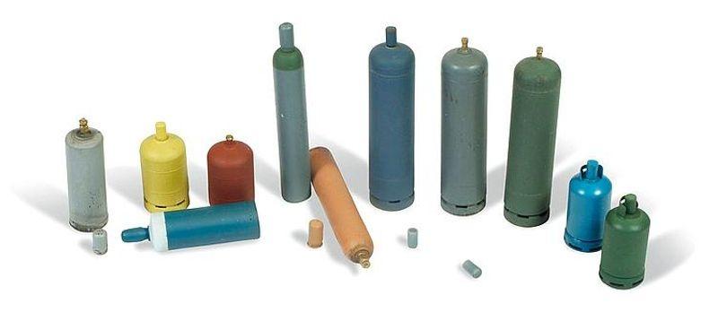 Moderne Gasflaschen, 12 Stück, unlackiert, 1:35