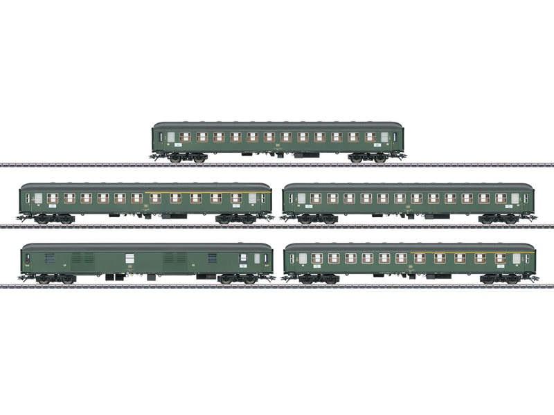 Schnellzugwagen-Set für Schnellzug D 360 DB H0