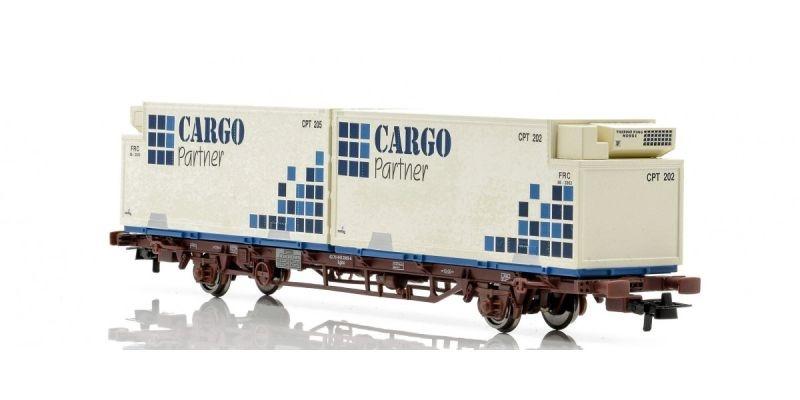 Topline Containertragwagen Lgns mit Container, Spur H0