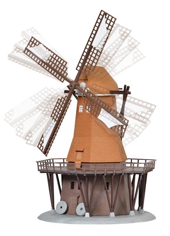 Windmühle mit Antrieb, Funktionsbausatz, Spur N